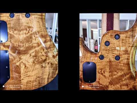 Roscoe LG5 Myrtle Burl top and back,